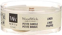 Düfte, Parfümerie und Kosmetik Mini Duftkerze im Glas Linen - Woodwick Petite Candle Linen