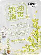 Düfte, Parfümerie und Kosmetik Feuchtigkeitsspendende und glättende Gesichtsmaske mit grünem Tee - BioAqua Natural Extract Mask