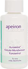 Düfte, Parfümerie und Kosmetik Kräuter-Mundwasser Konzentrat für eine milde Atemfrische - Apeiron Auromere Herbal Mouthwash Concentrate