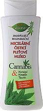 Düfte, Parfümerie und Kosmetik Regenerierende Mizellenmilch mit Hanf, Kreatin und Taurin - Bione Cosmetics Cannabis Cleansing Micellar Milk