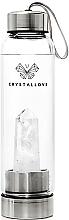 Düfte, Parfümerie und Kosmetik Wasserflasche mit weißem Quarzkristall 500 ml - Crystallove