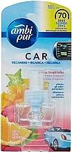 Düfte, Parfümerie und Kosmetik Nachfüller für Auto-Lufterfrischer Tropische Früchte - Ambi Pur Air Freshener Refill Tropical Fruits