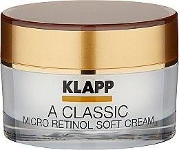 Düfte, Parfümerie und Kosmetik Intensiv pflegende Gesichtscreme mit Retinol und Vitamin A - Klapp A Classic Micro Retinol Soft Cream