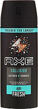 "Düfte, Parfümerie und Kosmetik Deospray ""Collision"" - Axe Collision All Day Fresh Deodorant"