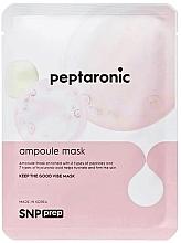 Düfte, Parfümerie und Kosmetik Feuchtigkeitsspendende, festigende Ampullenmaske mit Peptiden und Hyaluronsäure für alle Hauttypen - SNP Prep Peptaronic Ampoule Mask