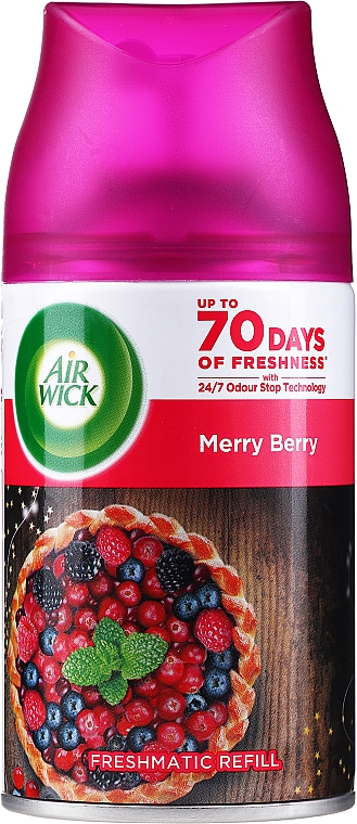 Raumerfrischer Merry Berry mit essentiellen Ölen - Air Wick Freshmatic Essential Oils Merry Berry — Bild N1