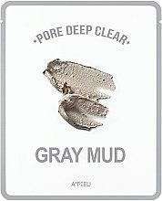 Düfte, Parfümerie und Kosmetik Porenreinigende Tuchmaske aus grauem Schlamm - A'pieu Pore Deep Clear Gray Mud Mask
