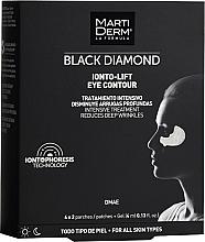 Düfte, Parfümerie und Kosmetik Festigende Anti-Falten Patches für die Augenpartie mit Lifting-Effekt - MartiDerm Black Diamond Ionto-Lift Eye Contour
