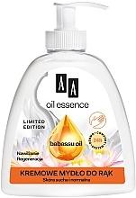 Cremige Handseife für trockene und normale Haut mit Babassuöl - AA Oil Essence Babassu Oil Hand Wash — Bild N1