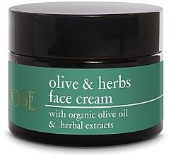 Düfte, Parfümerie und Kosmetik Gesichtscreme mit Bio Olivenöl und Kräuterextrakten - Yellow Rose Olive & Herbs Face Cream