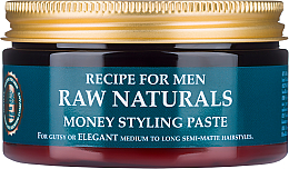 Düfte, Parfümerie und Kosmetik Modellierende Haarstyling Paste für Männer - Recipe For Men RAW Naturals Money Styling Paste