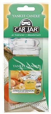 Papier-Lufterfrischer Alfresco Afternoon - Yankee Candle Car Jar Alfresco Afternoon — Bild N1