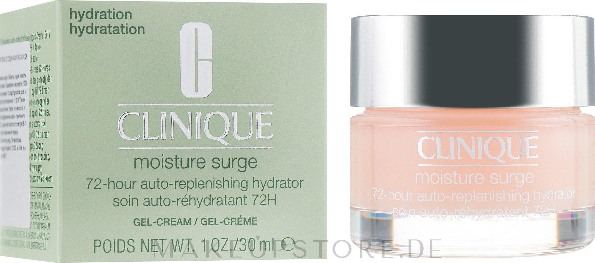 Intensiv feuchtigkeitsspendende Gesichtscreme - Clinique Moisture Surge 72-Hour Auto-Replenishing Hydrator — Bild 30 ml