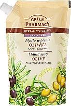 Düfte, Parfümerie und Kosmetik Flüssige Handseife mit Olive - Green Pharmacy Liquid Soap Olive (Doypack)
