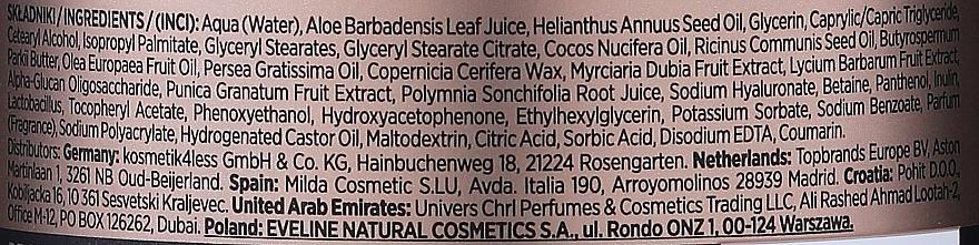 Pflegende und feuchtigkeitsspendende Körperlotion mit Aloe Vera, Olivenöl, Granatapfel und grünem Tee - Eveline Organic Gold Regenerating and Smoothing Body Lotion — Bild N3