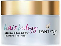 Düfte, Parfümerie und Kosmetik Regenerierende Haarmaske für fettige Kopfhaut und trockene Haarspitzen - Pantene Pro-V Hair Biology Cleanse & Reconstruct Intensive Repair Mask