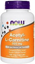 Düfte, Parfümerie und Kosmetik Nahrungsergänzungsmittel Acetyl-L-Carnitine 500 mg - Now Foods Acetyl-L-Carnitine