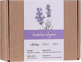 Düfte, Parfümerie und Kosmetik Gesichtspflegeset - Biolaven Lavender Relief (Gesichtsserum 30ml + Augencreme 15ml + Lavendelhydrolat für Gesicht, Körper und Haare 100ml + Duftbeutel 30g)