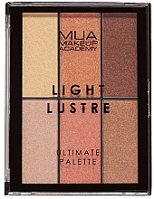 Make-up Palette - MUA Light Lustre Ultimate Palette  Bronze, Blush, Highlight — Bild N1