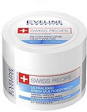 Düfte, Parfümerie und Kosmetik Ultraleichte feuchtigkeitsspendende und pflegende Gesichtscreme - Eveline Cosmetics Swiss Recipe Sensitive