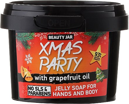 Gelee Seife Xmas Party mit Granatapfelöl - Beauty Jar Jelly Soap For Hands And Body — Bild N1