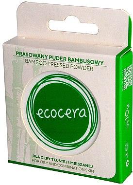 Kompaktpuder mit Bambus-Extrakt für fettige und gemischte Haut - Ecocera Bamboo Pressed Face Powder — Bild N1