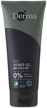 Körper, Gesicht und Haar Duschgel - Derma Man Body Face & Hair Shower Gel — Bild N1