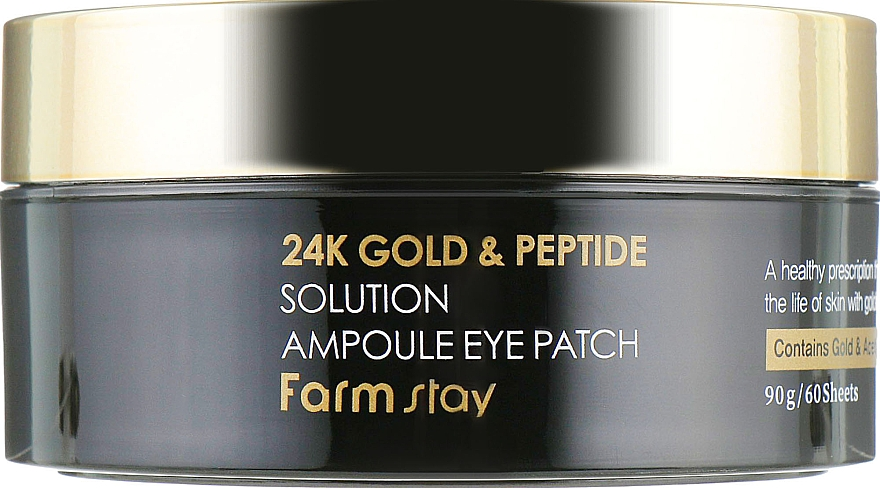 Hydrogel-Augenpatches mit 24K Gold und Peptiden - FarmStay 24K Gold And Peptide Solution Ampoule Eye Patch — Bild N4