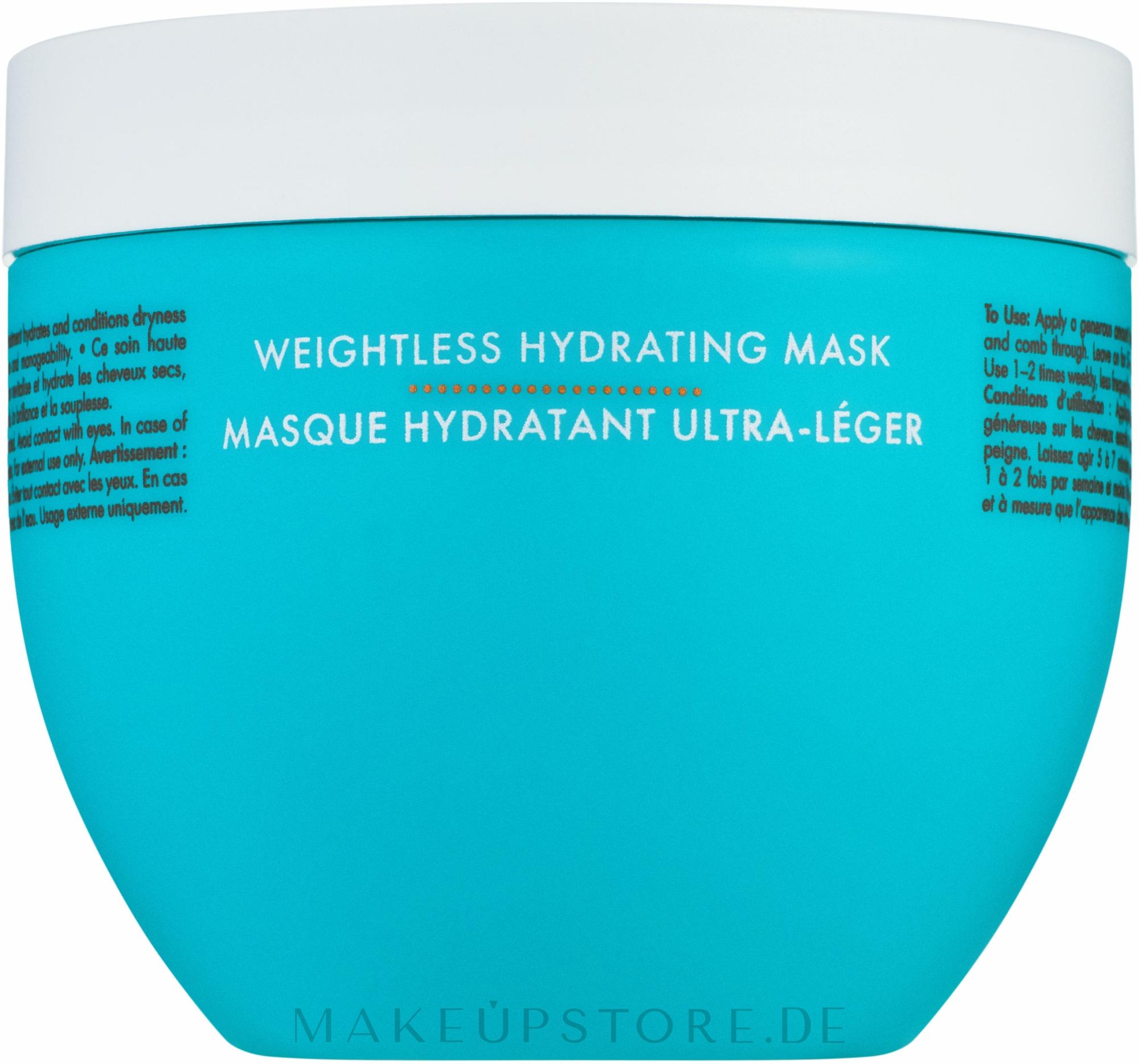 Feuchtigkeitsmaske für dünnes Haar - Moroccanoil Weightless Hydrating Mask Moroccanoil — Bild 500 ml