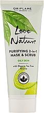 Düfte, Parfümerie und Kosmetik 2in1 Klärendes Gesichtspeeling & Maske mit Teebaum und Limette - Oriflame Love Nature Purifyng 2in1 Mask&Scrub