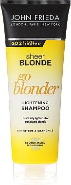 Aufhellendes Shampoo für blonde Haare mit Zitrusfrüchten und Kamille - John Frieda Sheer Blonde Go Blonder Shampoo — Bild N1