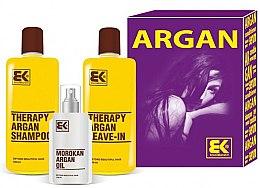 Düfte, Parfümerie und Kosmetik Haarpflegeset - Brazil Keratin Therapy Argan (Shampoo 300ml + Conditioner 300ml + Haaröl 100ml)