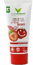 Düfte, Parfümerie und Kosmetik Zahnpasta-Gel für Kinder 0-6 Jahre mit Erdbeergeschmack - Cosnature