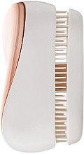 Kompakte Haarbürste rosegold-cremeweiß - Tangle Teezer Compact Styler Rose Gold Cream — Bild N3