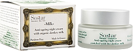 Düfte, Parfümerie und Kosmetik Anti-Aging Nachtcreme mit Bio Eselsmilch - Sostar Anti-Aging Night Cream Enriched With Bio Donkey Milk