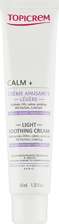 Beruhigende und feuchtigkeitsspendende Gesichtscreme für normale bis Mischhaut - Topicrem Calm + Light Soothing Moisturizing Cream — Bild N2
