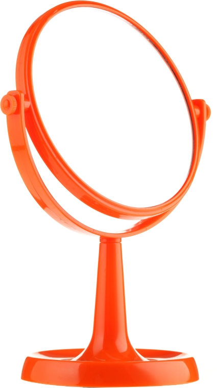 Kosmetikspiegel mit Ständer 85734 rund 15,5 cm orange - Top Choice Colours Mirror — Bild N1