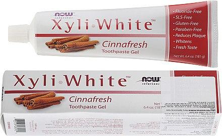 Fluoridfreies Zahnpasta-Gel mit Zimt - Now Foods XyliWhite Toothpaste Gel — Bild N1