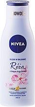Düfte, Parfümerie und Kosmetik Pflegende Körperlotion mit Rose & Arganöl für normale bis trockene Haut - Nivea Balm With Rose & Argan Oil