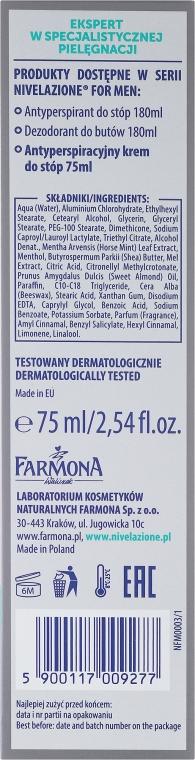 Fußdeocreme Antitranspirant für Männer - Farmona Nivelazione For Men Antiperspirant Foot Cream — Bild N3