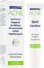 Düfte, Parfümerie und Kosmetik Gesichtsgel mit Salicylsäure gegen Akne - Novaclear Acne Spot Control
