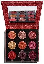 Düfte, Parfümerie und Kosmetik Lidschattenpalette mit Glitzer - Makeup Revolution Pressed Glitter Palette Hot Pursuit