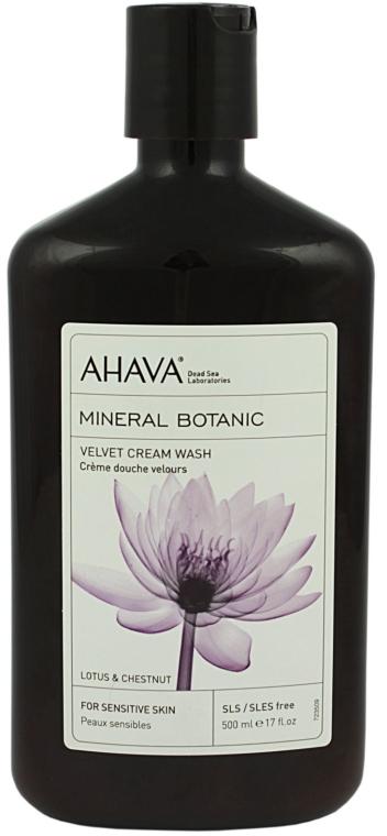Sanfte Duschcreme mit Lotus- und Kastanienextrakt für empfindliche Haut - Ahava Mineral Botanic Velvet Cream Wash Lotus Flower & Chestnut — Bild N1