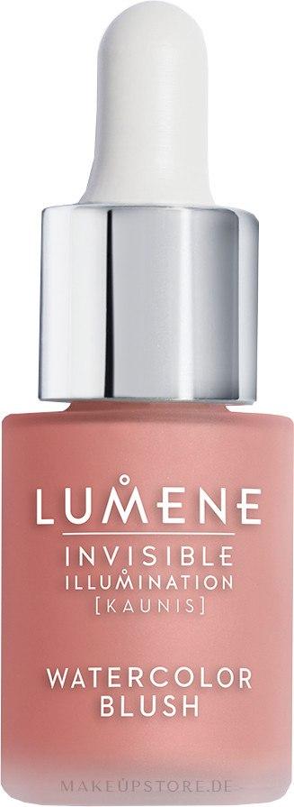 Flüssiges Rouge - Lumene Invisible Illumination Watercolor Blush — Bild Pink Blossom