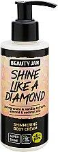 Düfte, Parfümerie und Kosmetik Schimmernde Körpercreme mit Granatapfel- und Vanilleextrakt und Mandel- und Kokosölen - Beauty Jar Shimmering Body Cream