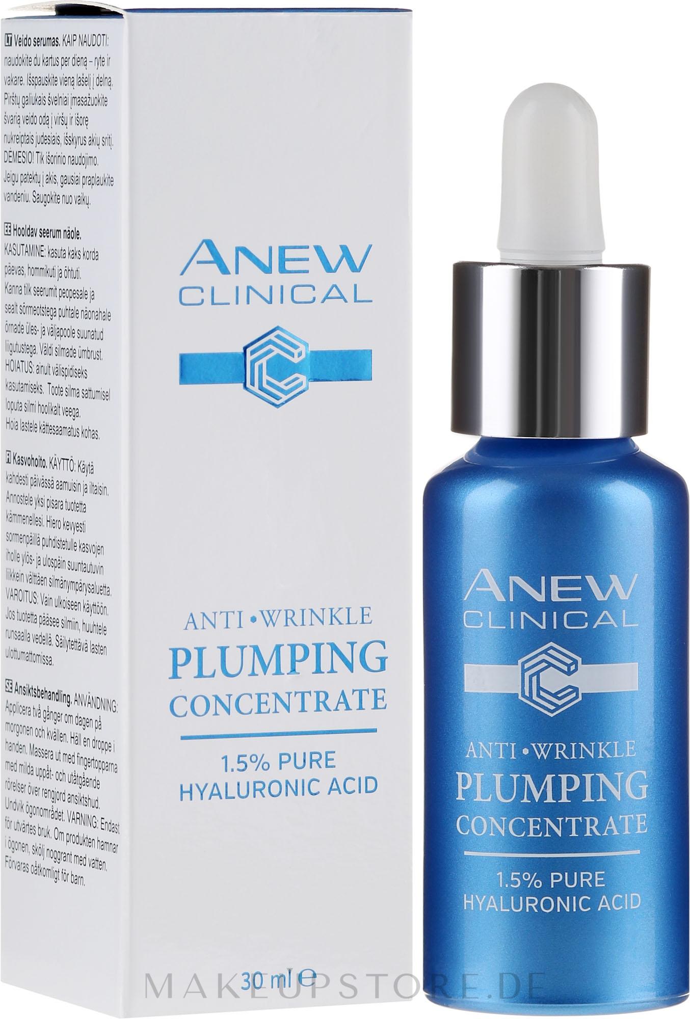 Aufbauendes und straffendes Gesichtsserum mit Hyaluronsäure - Avon Anew Clinical Anti Wrinkle Plumping Concentrate — Bild 30 ml