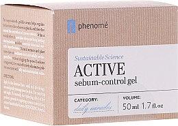 Düfte, Parfümerie und Kosmetik Seboregulierendes Creme-Gel für das Gesicht mit Hyaluronsäure - Phenome Sustainable Science Active Sebum-Control Gel