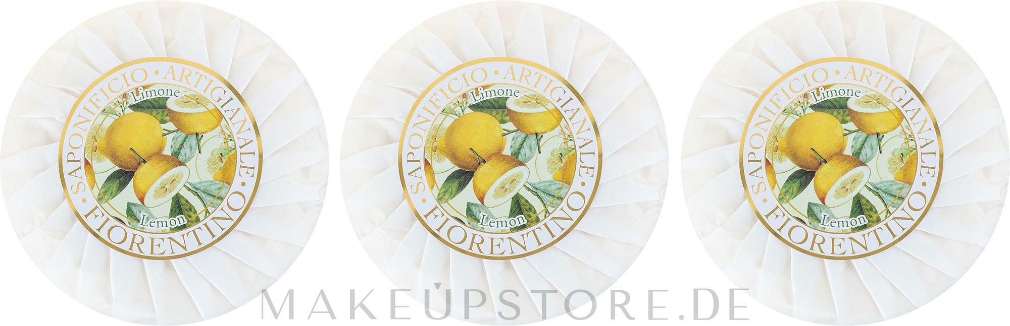 Seifenset Zitrone - Saponificio Artigianale Fiorentino Lemon Soap — Bild 3 x 100 g