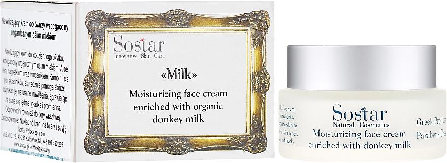 Feuchtigkeitsspendende Gesichtscreme mit Eselsmilch - Sostar Moisturizing Face Cream Enriched With Donkey Milk
