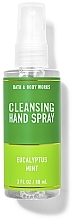 Düfte, Parfümerie und Kosmetik Handreinigungsspray Eukalyptus und grüne Minze - Bath And Body Works Cleansing Hand Spray Eucalyptus Spearmint